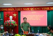 Thượng tướng Nguyễn Văn Sơn làm việc với Bệnh viện 199 về công tác phòng, chống dịch Covid-19
