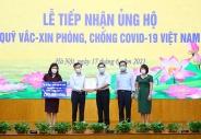 Bộ Lao động – Thương binh và Xã hội đóng góp Quỹ Vắc-xin phòng, chống COVID-19