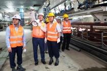 Thứ trưởng Lê Tấn Dũng kiểm tra công tác An toàn lao động tại Dự án Metro Line 3 Hà Nội