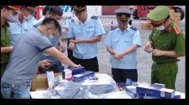 Tháng 4.2021 ngành Hải quan  phối hợp, xử lý 1.117 vụ việc buôn lậu, gian lận thương mại