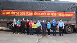 Đồng Nai: Tiếp nhận 80 tấn hàng hóa, nhu yếu phẩm tỉnh Bắc Giang hỗ trợ phòng, chống dịch covid-19