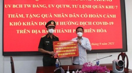 Tư lệnh Quân khu 7 làm việc với Ban chỉ đạo phòng, chống dịch Covid-19 TP. Biên Hòa