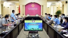 Thứ trưởng Lê Tấn Dũng kiểm tra công tác phòng, chống dịch và an sinh xã hội tại Đồng Tháp