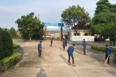 Không gian xanh mát tại Trường Cao đẳng nghề Lạng Sơn